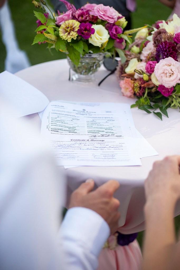 The Michigan marriage license