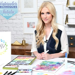 Free Watercolor Class with Natalie Malan for Scrapbook.com | DIY watercolor | watercolor supply list | Intro to watercolor | Modern Calligraphy | Brush Calligraphy