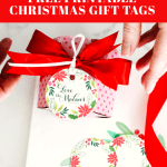 watercolor Christmas gift tags
