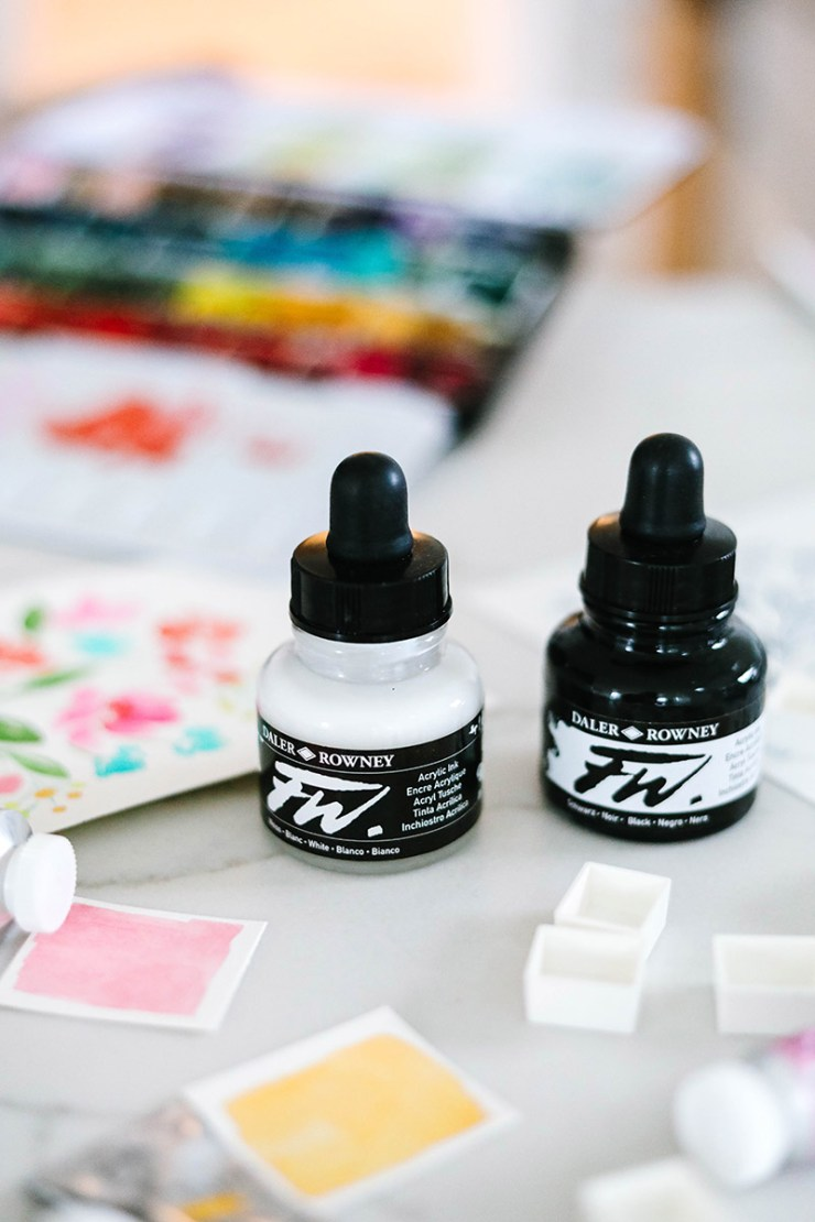 acrylic inks