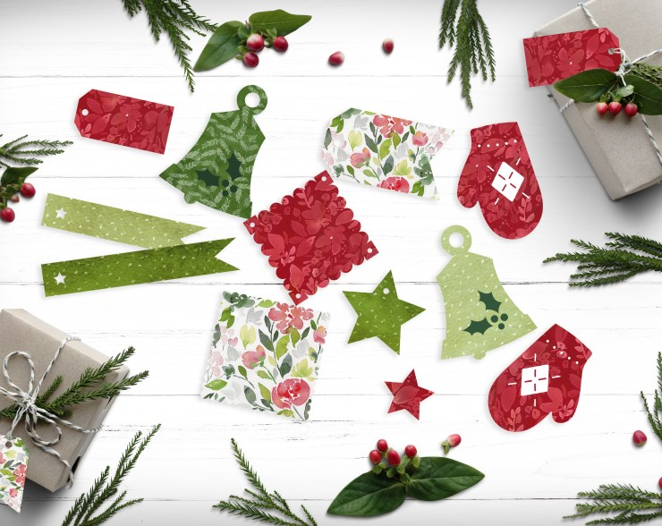 Cute Free Printable Print and Cut Cricut Gift Tags | Natalie Malan