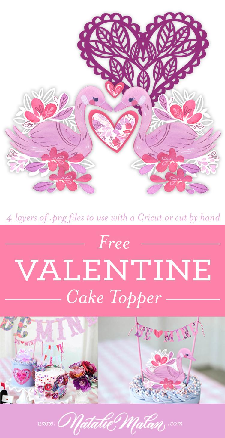 Cricut Cake Topper Valentine
