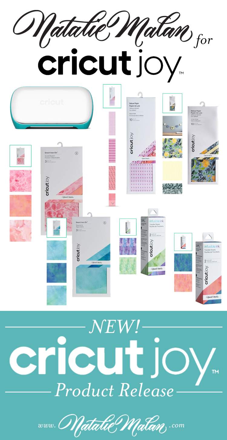 Cricut Joy featured by Natalie Malan Illustration and Surface Design Surface Designer Blogger in Utah Cricut Joy Paper packs and machine