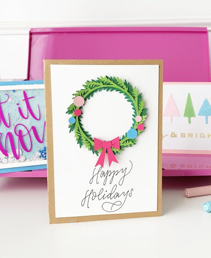 DIY Christmas Cards - Cricut Explore Air 2 Projects