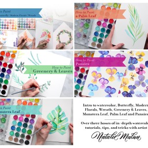 Best Watercolor Classes Online Modern Florals Rose Peony Pansy