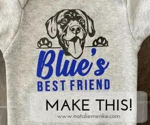 Custom 'Baby's Best Friend' Black Lab Onesie Gift {Tutorial}