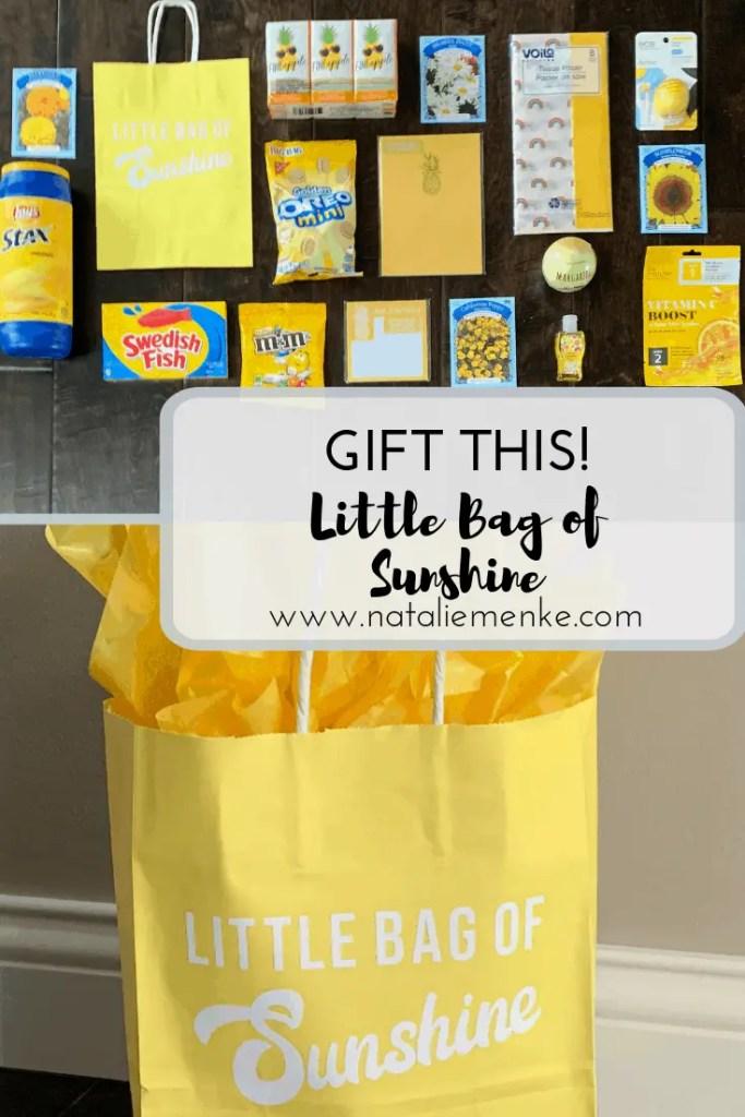 Give this gift! Little Bag of Sunshine gift bag using the tutorial at www.nataliemenke.com