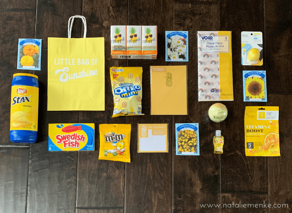 yellow items for my little bag of sun shine gift