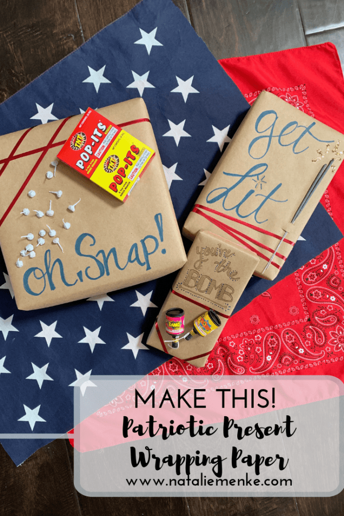 Elevate any gift into something festive for July 4th using this red, white and blue gift wrap