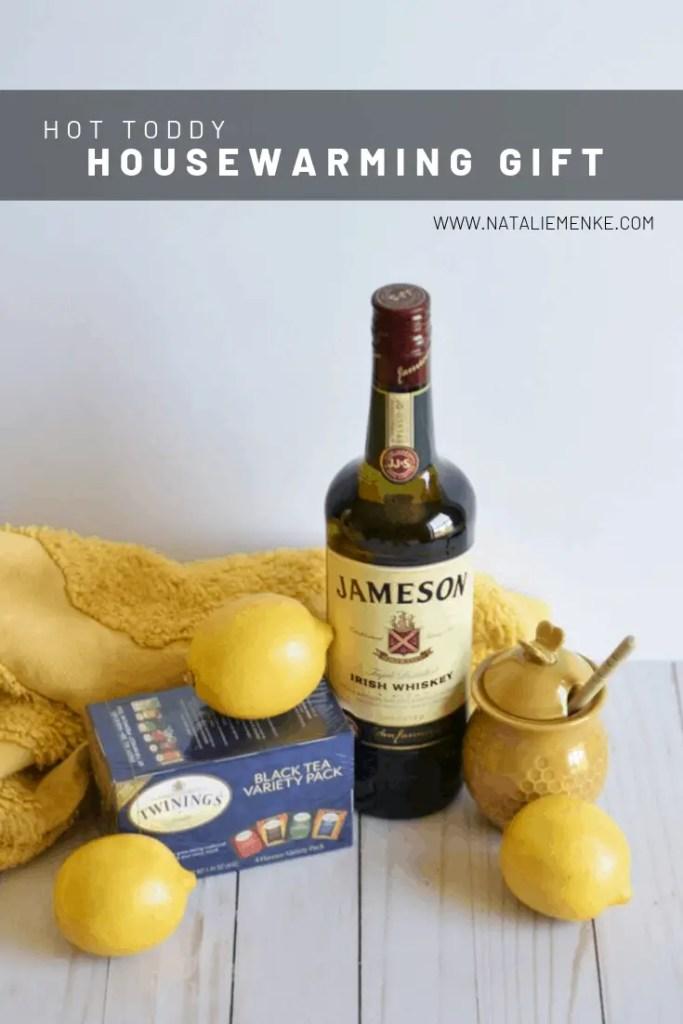 hot toddy ingredients: Jameson whiskey, honey, lemons and tea