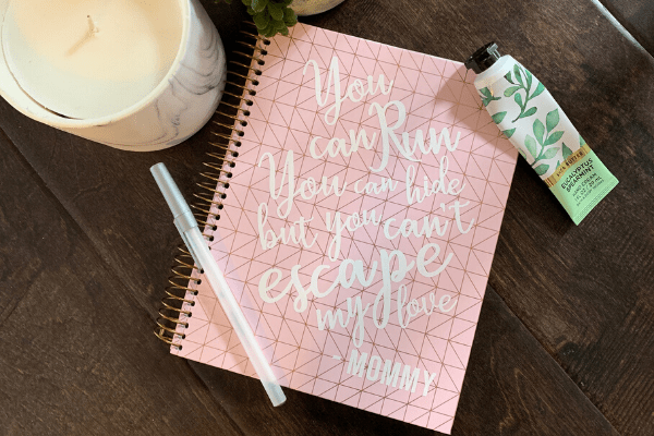DIY New Mom Notebook Gift {Tutorial}