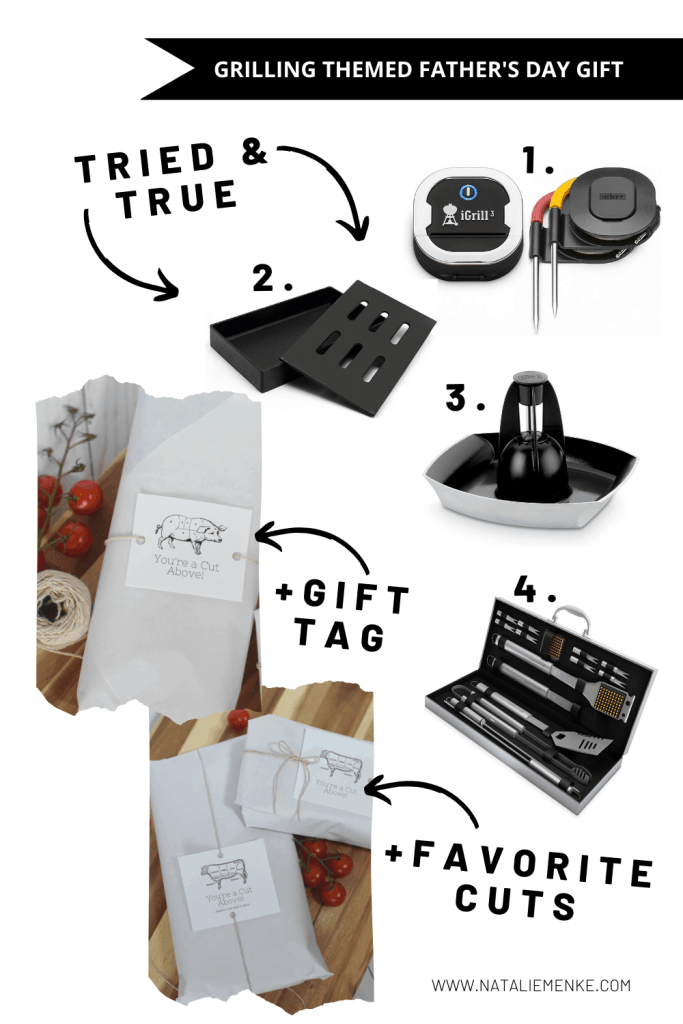 Grilling Themed Father's Day gift grilling accessories