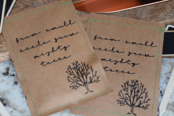 How to Make Personalized DIY Seed Packets