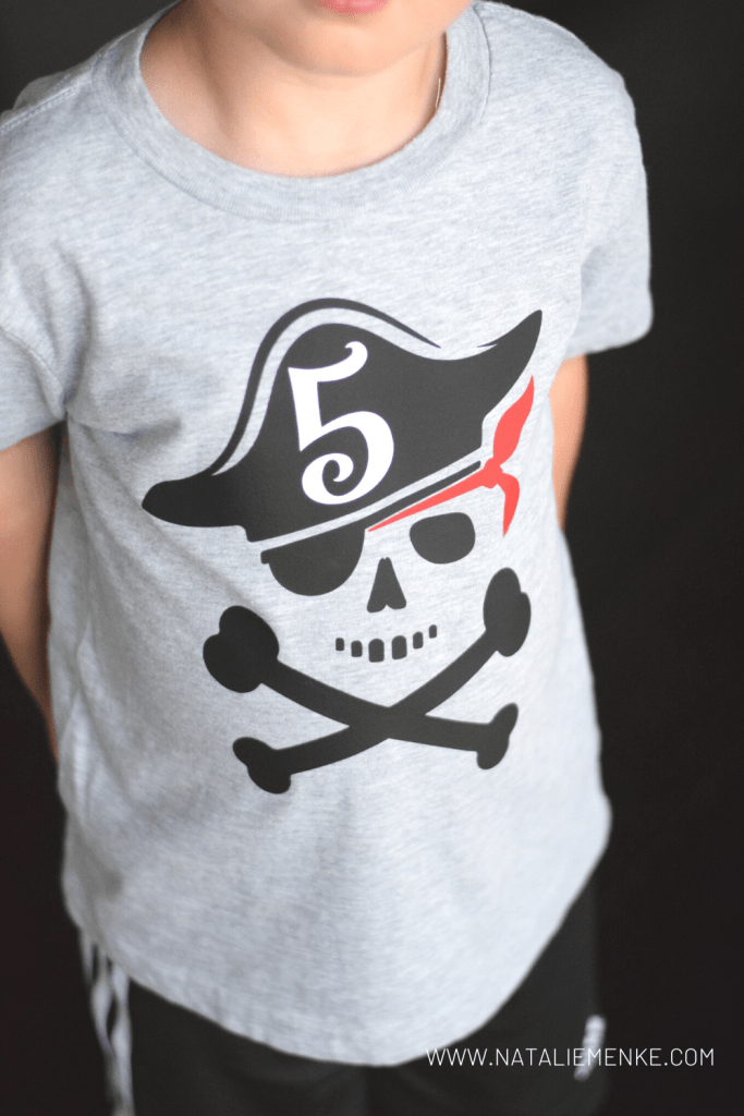 5th birthday party pirate shirt