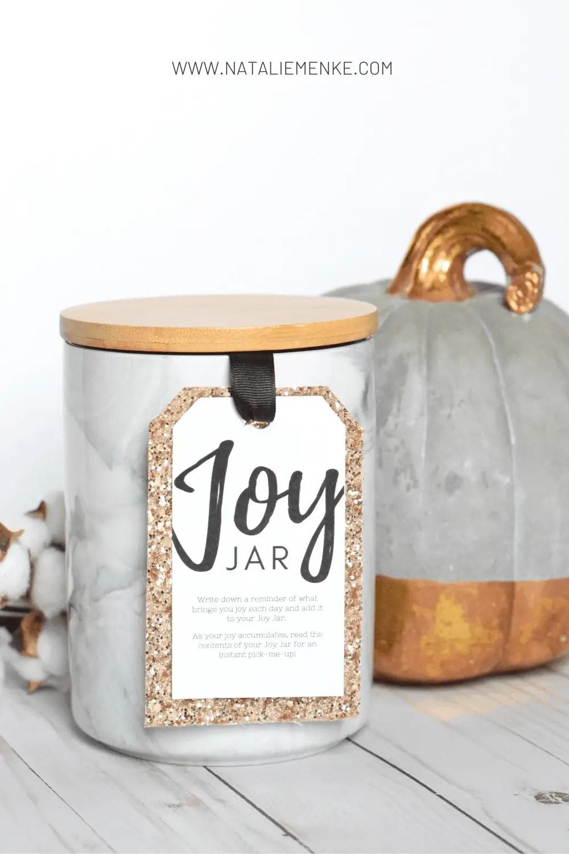 """Joy Jar"" Thanksgiving hostess gift"