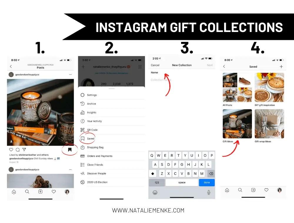 Instagram collections screen shots