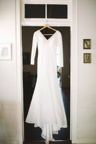 Natalie Met Lewis Wedding Dress Hanging