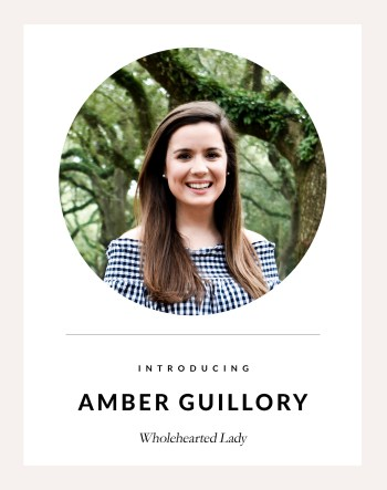 Introducing Wholehearted Lady, Amber Guillory, of Saint and Cypress blog! Read where this sweet single lady gets the most encouragement for her single season, whats on her bucket list, advice she would give herself years ago, and so much more ! || www.NatalieMetLewis.com