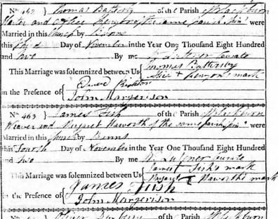 example parish register