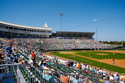Parmelee and Bromberg currently play at this beautiful field, Hammond Stadium.