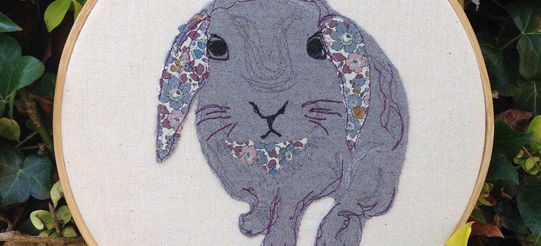 contact me, message me, contact, form, Freehand machine embroidery, textile art, wall hanging, nursery, rabbit lover, rabbits, embroidery, stitching