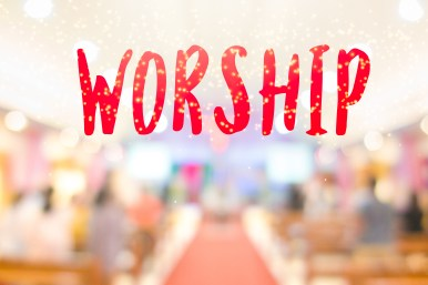 """The Word """"worship"""" And The Hall In Church Christian Music Concer"""