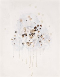 Fade Series #4 - acrylic . beeswax and paper on board, 11 x 14