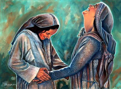 Image result for Mary, Elizabeth, pregnant, art