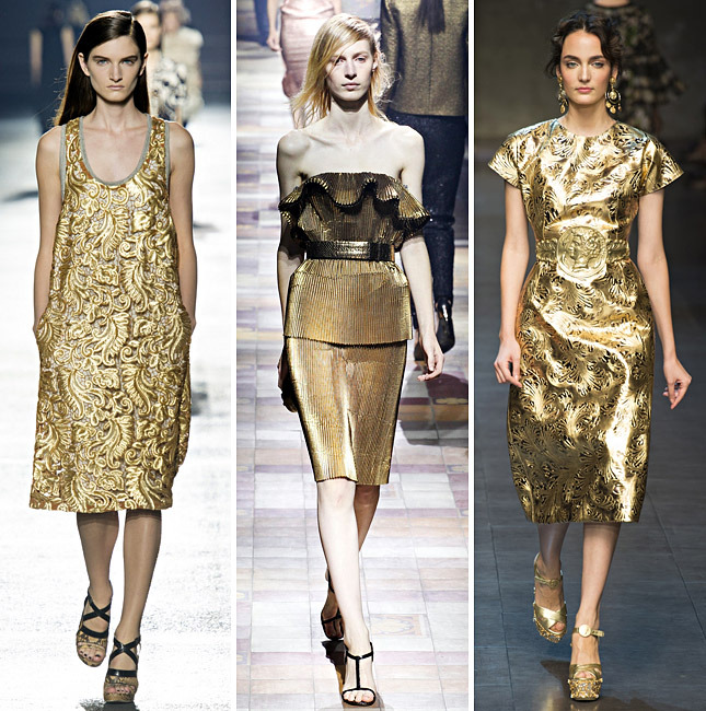 Dries Van Noten, Lanvin, Dolce & Gabbana