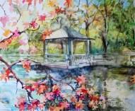 NYC Botanical Garden. Watercolor, paper