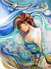Ocean whisper. Watercolor, paper