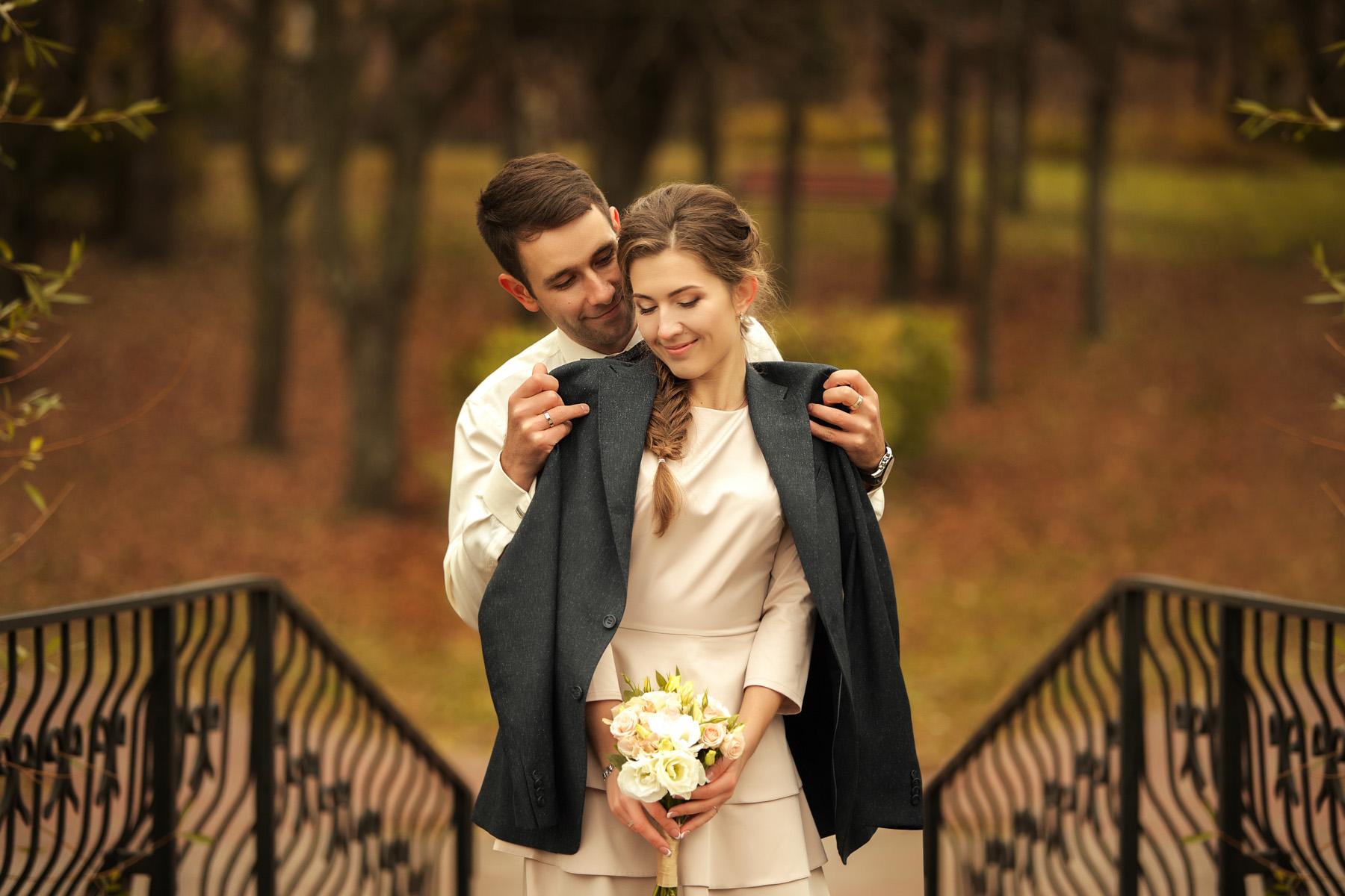Свадебное портфолио симетрическая фотография