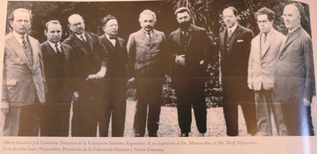 Einstein en la Comisión Directiva de la Federación Sionista Argentina