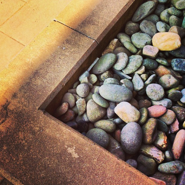 Rocks in shadow @ my office. CC BY SA 3.0, Natania Barron