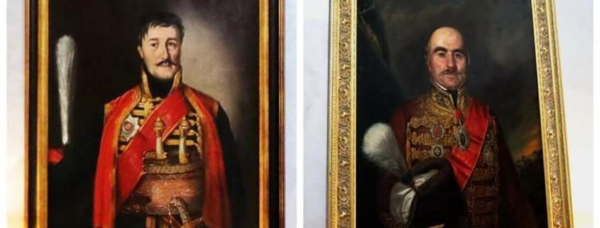 Portraits: Karadjordje and Prince Milos Obrenovic