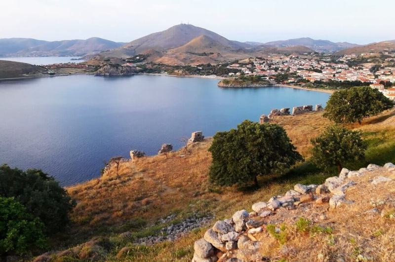 Panoramic view from the Myrina castle, Lemnos