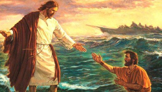 Pedro andou sobre as águas!