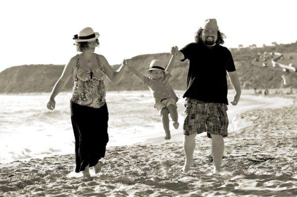 Family Maternity Shoot at  the beach