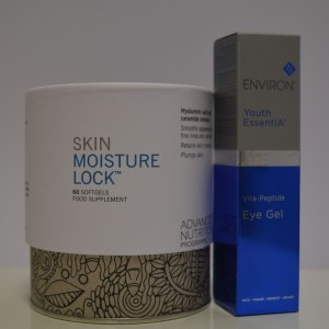 skin moisture lock supplements and eye gel environ