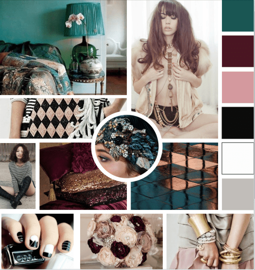 Inspiration board for Natasha Lane Design Co.