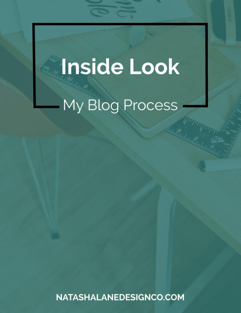 Inside Look: My Blog Process