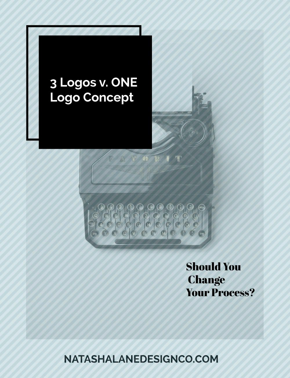 3 logos vs 1 logo concept