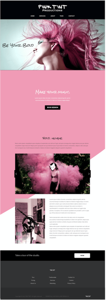 Website for Pink Tint