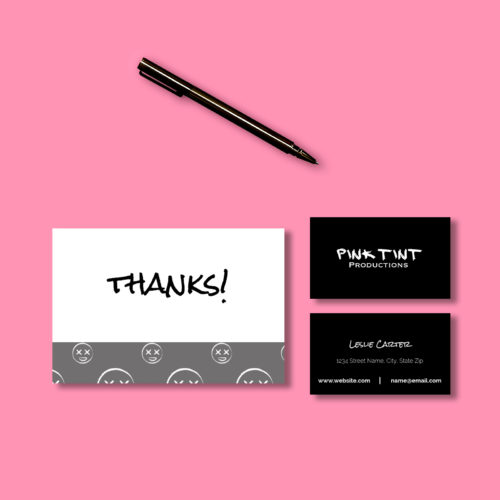 Pink Tint business card