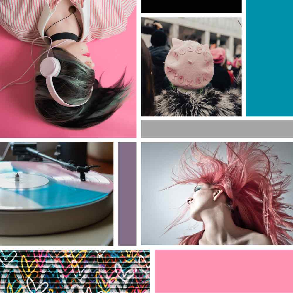 Brand x Web Design for Pink Tint - Inspiration Board