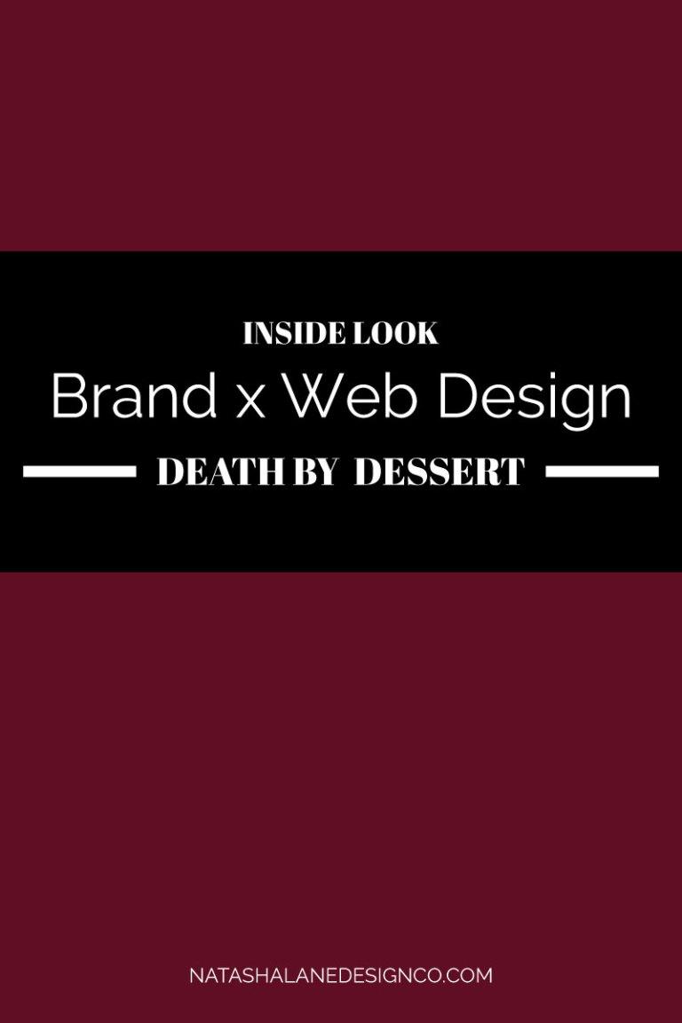 Brand x Web Design for Death by dessert