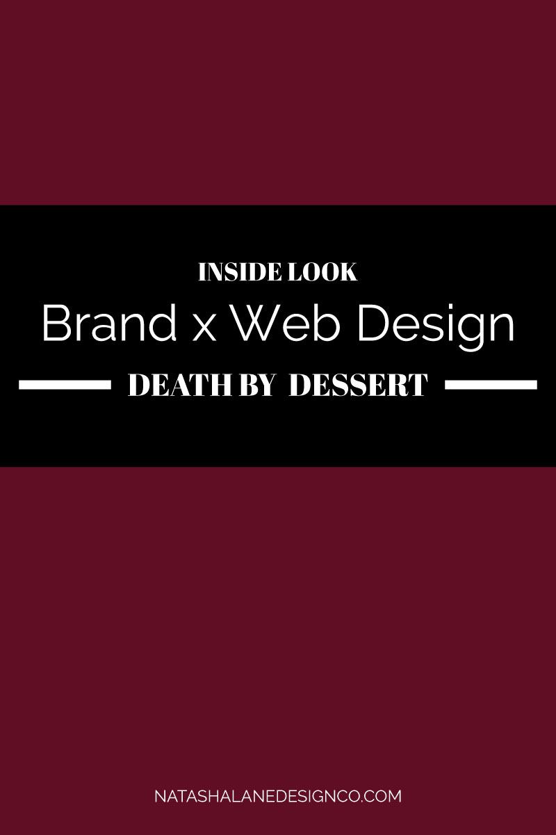 Brand x Web Design for Death by Dessert