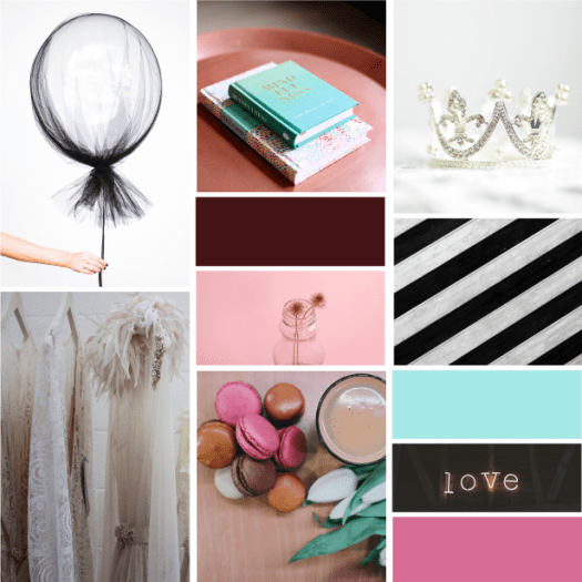 Brand x Web Design for Hue x Blush moodboard