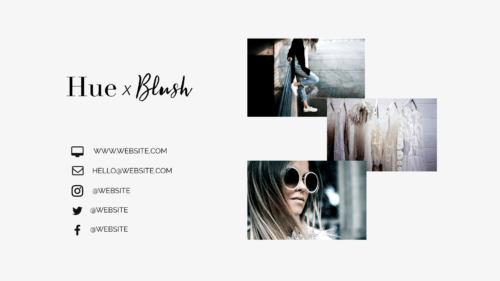 Brand x Web Design for Hue x Blush outro