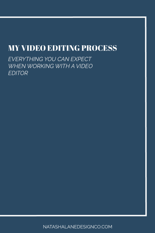 Video editing process